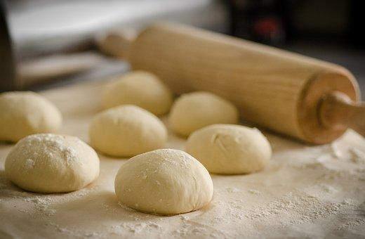 生地, 調理する, レシピ, イタリア, 小麦粉, キッチン, 準備, ホワイト