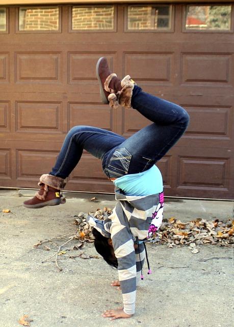 Girl Tumbling Flipping Gymnastics Free Photo On Pixabay