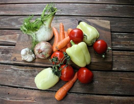 Verdure, Organici, Cibo, Fresco, Aglio, Carote, Pepe