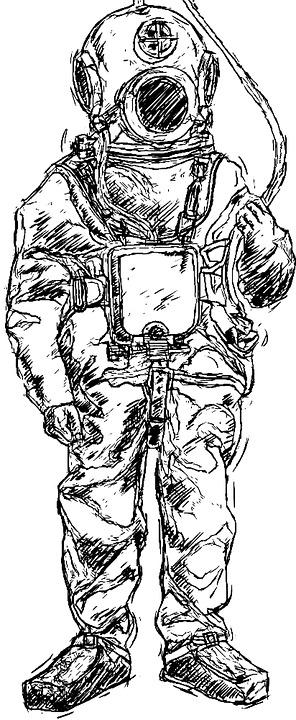 Free Illustration Helmet Diver Divers Divers Helmet
