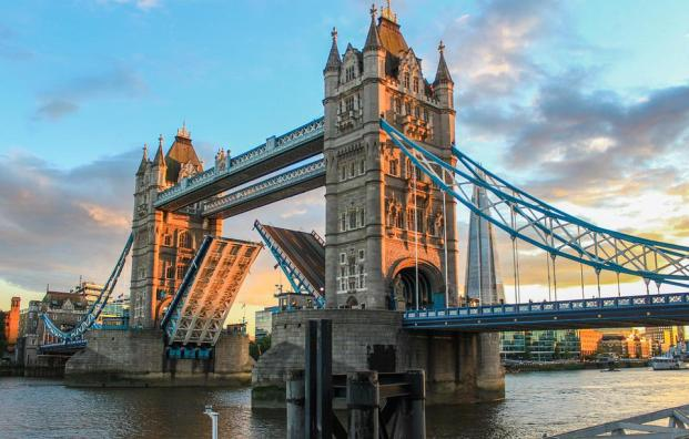 Tower Bridge, London, Evening, Abendstimmung, Sunset