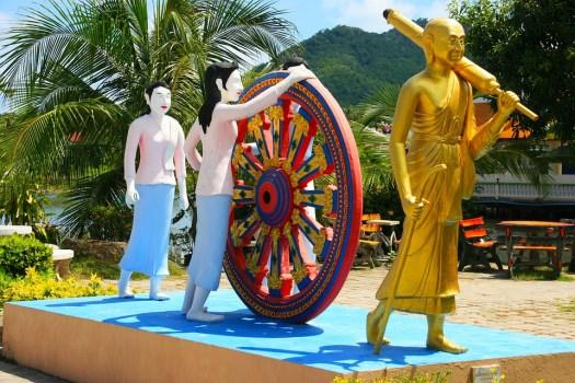 Buddha, Whee, Karma, A Piedi, Oro, Thailandia, Asia