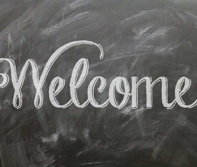 Welcome Quote Sign Poster Blackboard Chalkboard  C B Public Domain