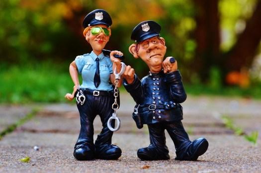 Poliziotto, Poliziotta, Colleghi, Divertente, Figura
