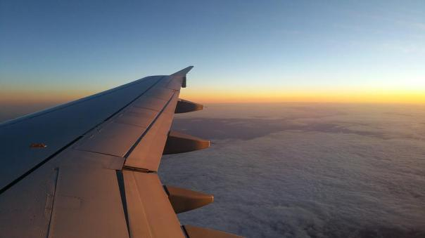 Plane, Sky, Cloud, Wing, Planes, Horizon, Sunset