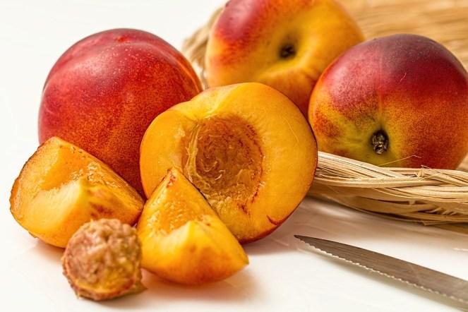 Nectarina, Pêssego, Frutas, Caducifólia, Suculenta, Doce