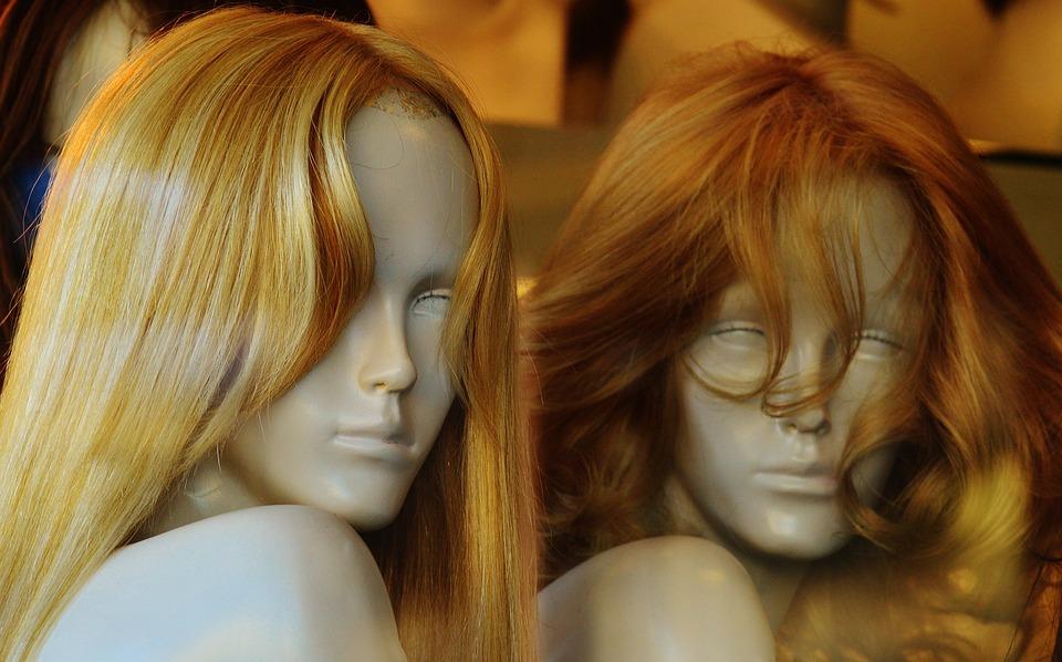 Etalagepoppen, Pruik, Haar, Blond