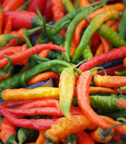 Pimentas, Quente, Picante, Red, Alimentos, Pimentão