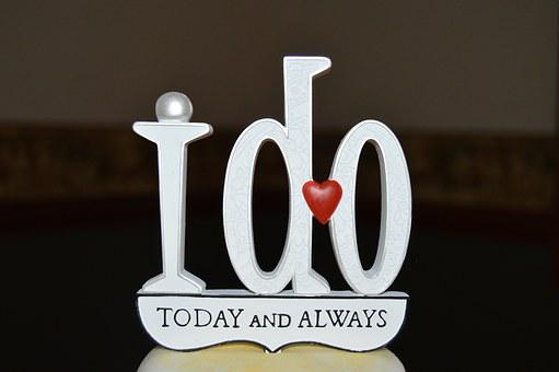An image with a dark background and wtylish letters saying I do TODAY AND ALWAYS
