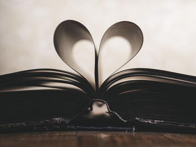 Papel, Romance, Símbolo, Valentim, Amor, Livro, Aberto