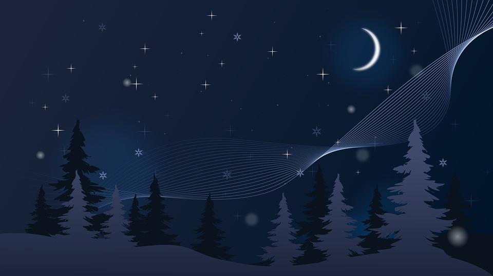 Illustration Gratuite Fond Dcran Hiver Nuit Nol