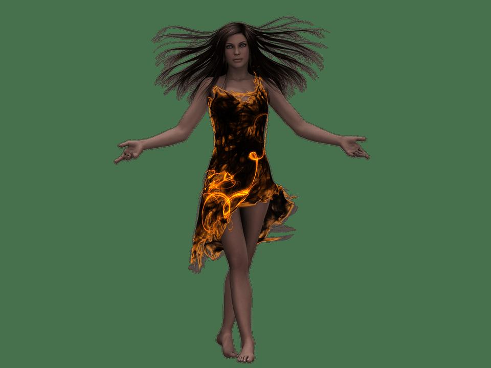 Free Illustration Woman Pretty Fantasy Flame Free
