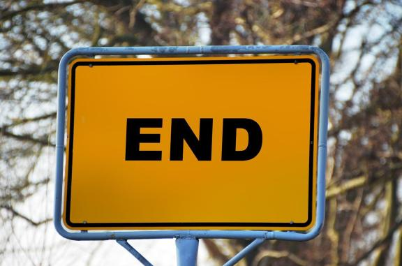 end road sign