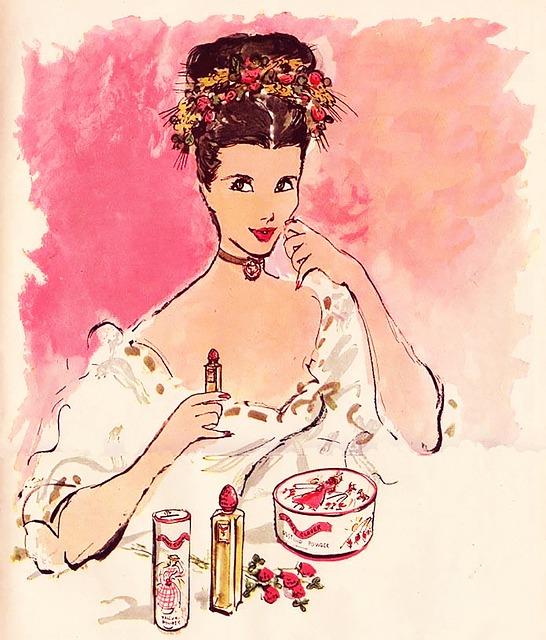 Free Illustration Lipstick Female Glamour Face Free