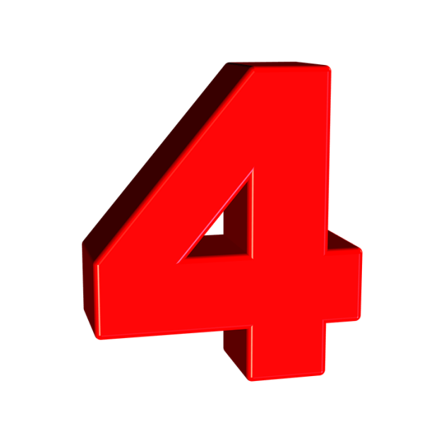 Four Number 4 - Free image on Pixabay