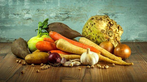 野菜, ニンジン, ニンニク, セロリ, 食品, 健康, ビタミン, 作物