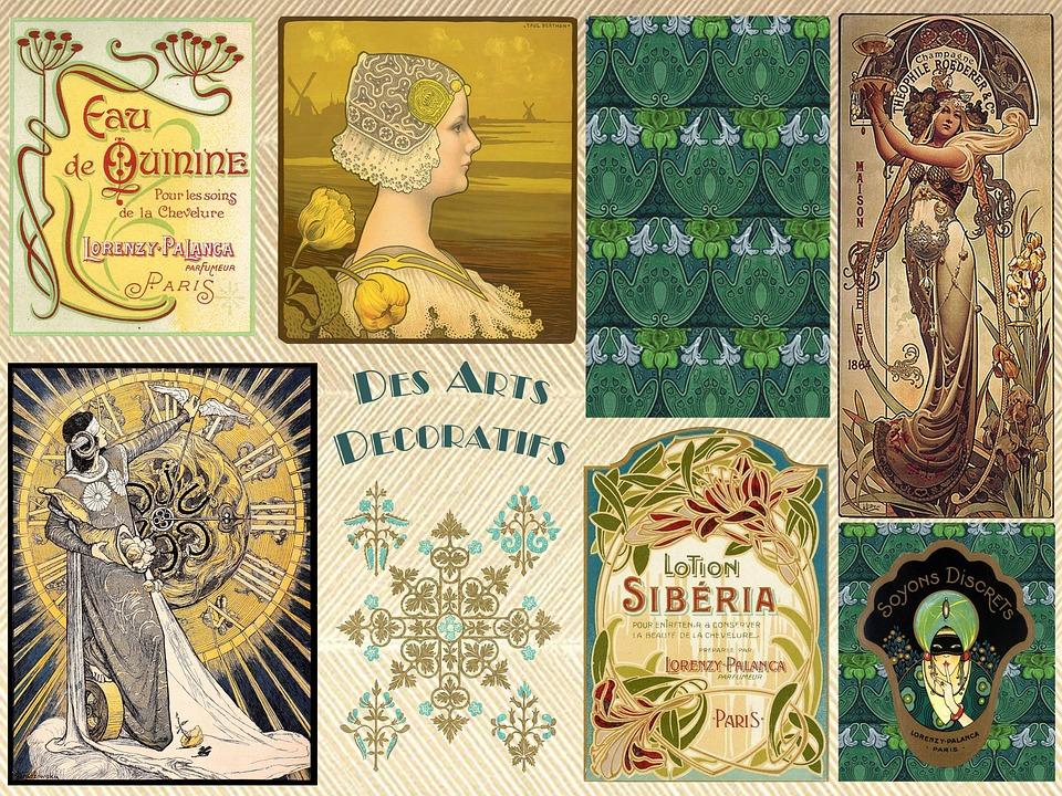 Kostenlose Illustration Jahrgang Kunst Deko Art Deco