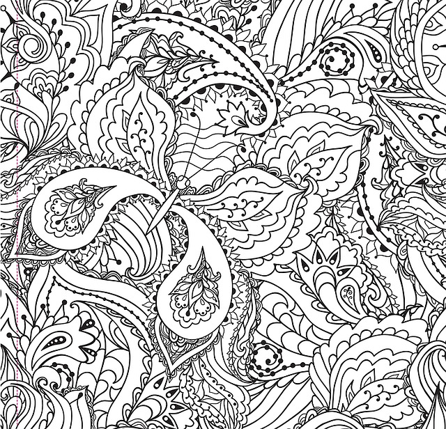 free illustration black and white butterfly paisley