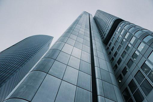 High rise office buildings to signify fortune 500 companies