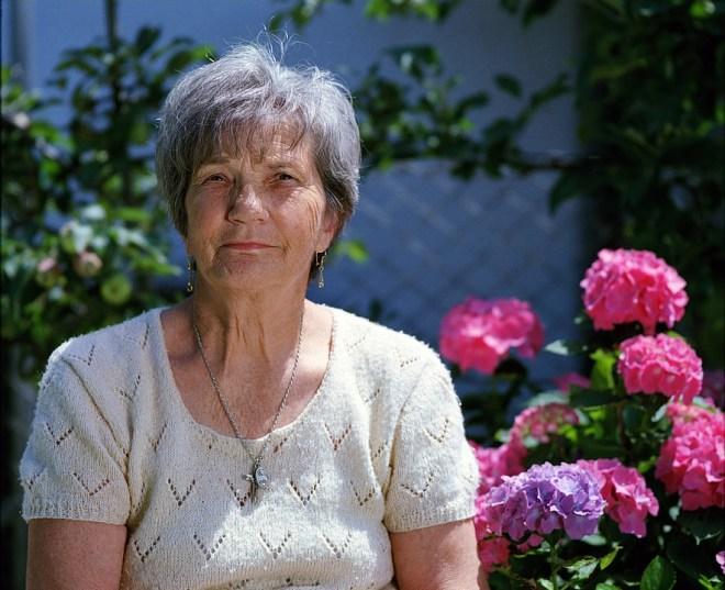 Granny, Elder, Flower, Senior, Elderly, Grandmother