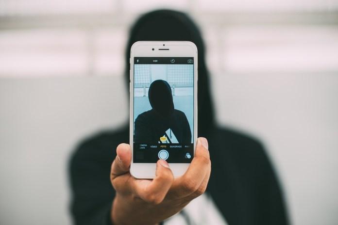 Iphone, Prise De Photo, Téléphone, Anonyme, Selfie