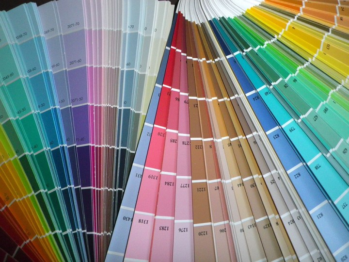 fan deck showing colors of paint to pick from