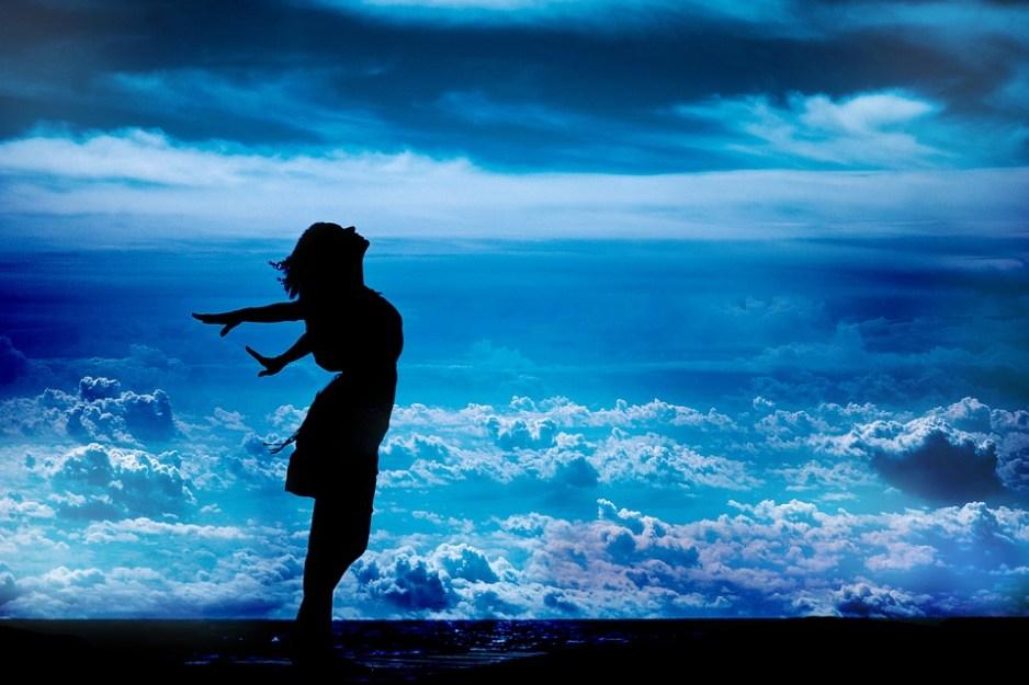 Libertate, Cliff, Beach, Sky, Aventura, Natura, Femeie