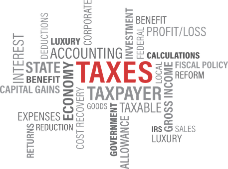 Tax Taxes Government Refund Word Credit Re