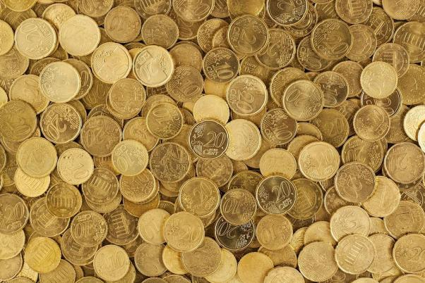 Euro, Coins, Currency, Money, Yellow, Europe, Growth