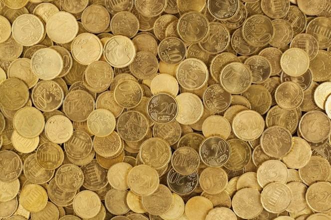 Euro, Moedas, Moeda, Dinheiro, Amarelo, Europa, Crescimento
