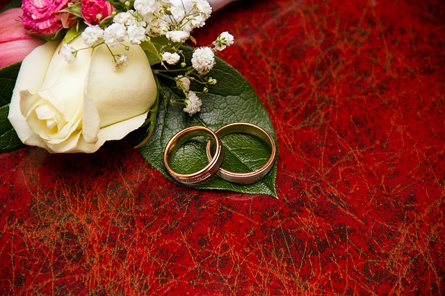 Free Photo: Engagement, Rings, Flowers, Wedding