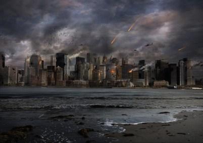 市, 爆発, 建物, 空, 火, 核, 黙示録, ハルマゲドン, アーキテクチャ, 場所, モニュメント, 海