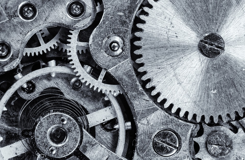 マクロ, 歯車, ギア, エンジン, ビンテージ, 産業, 仕事, 機構, 力学, 技術, 精度, クロック