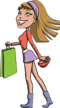 Girl, Shopping, Bag, Gift, Blonde
