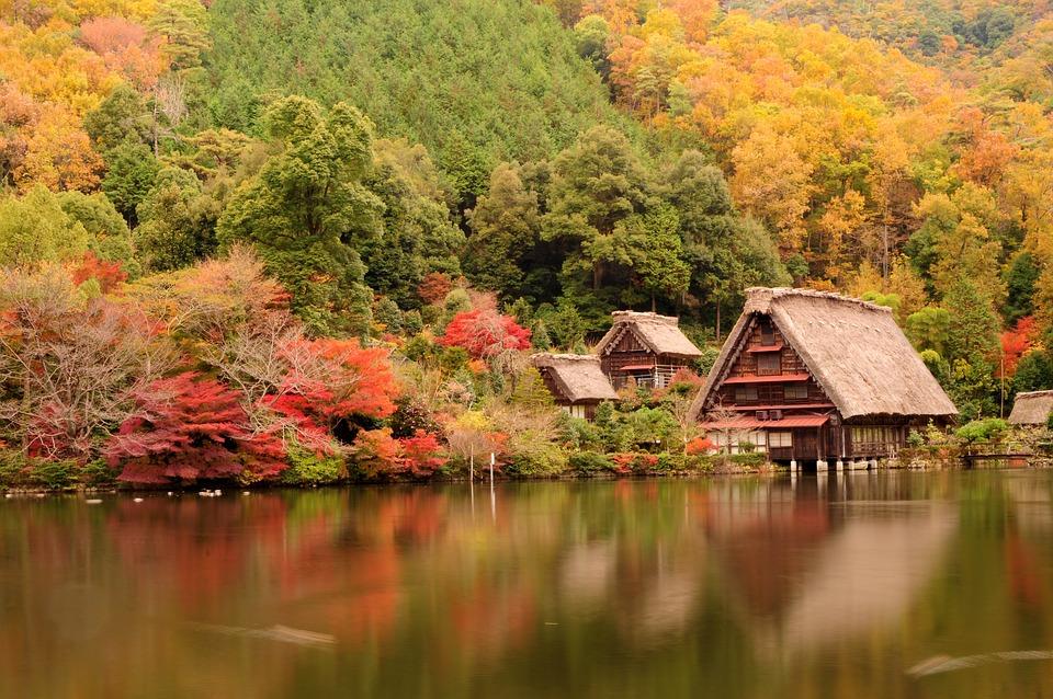 Japan Traditional House Lake Free Photo On Pixabay