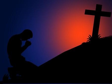 Pray, Cross, Angel, Faith, Prayer