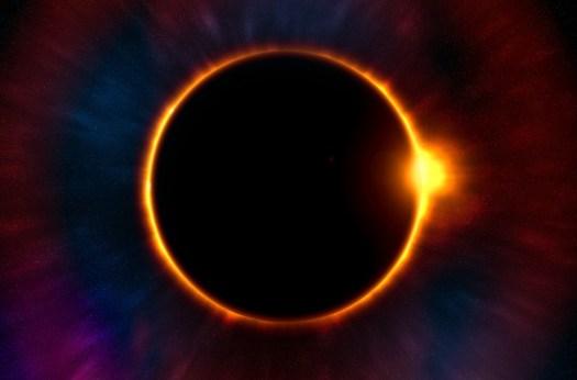 Carta Da Parati, Sfondo, Eclissi, Crepuscolo, Luna