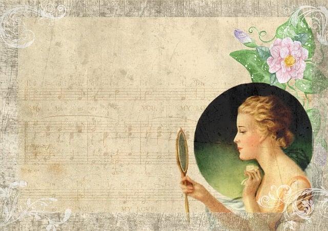 Free Illustration Vintage Lady Mirror Dancing Free