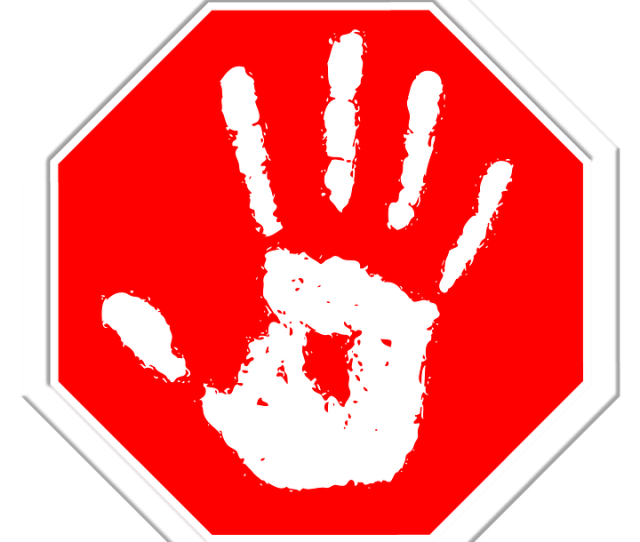 Stop Hand Finger Containing Off Final