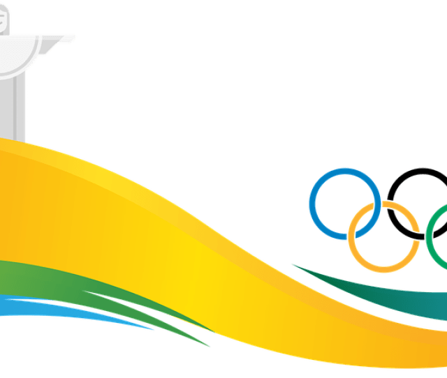 Banner Rio  Olympiad Brazil Olympic Rings