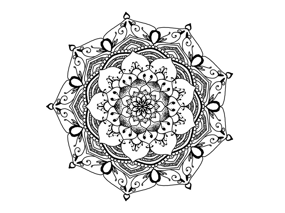 Mandala Noir Et Blanc Zendala Image Gratuite Sur Pixabay