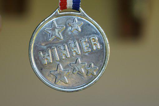 A winner's medal. Prove you are a winner.