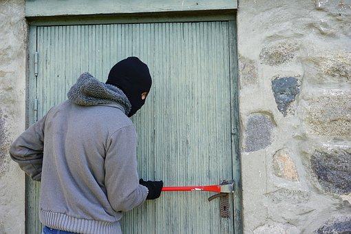 泥棒, 強盗, を分割します。, 目出し帽, バール, 仮面舞踏会