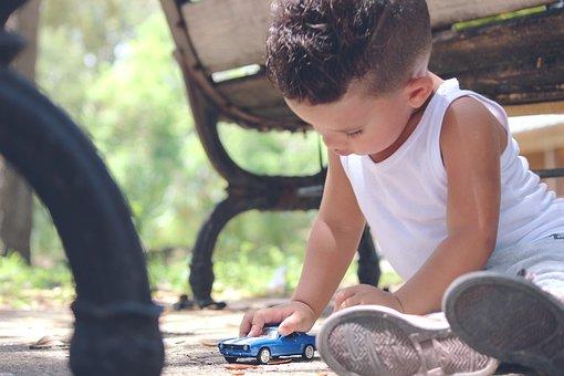 Voiture, Jouets, L'Enfance, Enfant