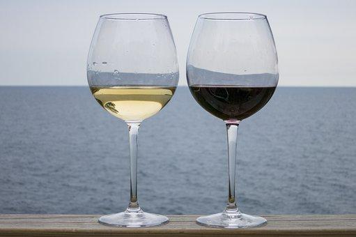 ワイン, 赤ワイン, アルコール, ワイングラス, ガラス, 赤, 白ワイン