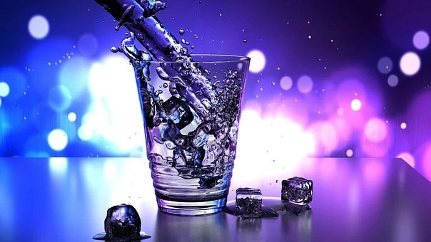 Water, Glass, Ice, Wallpaper, Drop