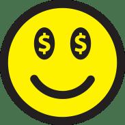 Smiley, Emoticon, Money, Dollars, Face, Icon, Good