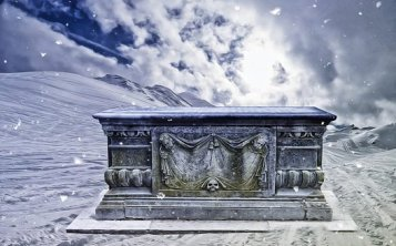 Gothic, Fantasy, Dark, Tomb, Snow