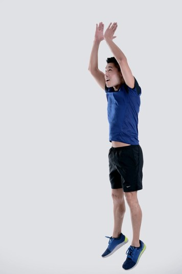 Jumping stage in the Burpees exercise