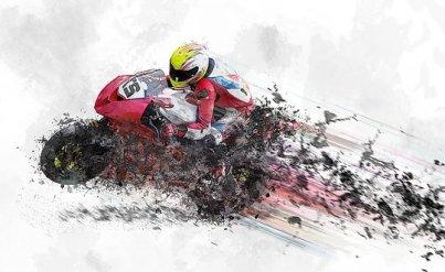 Motorcycle, Speed, Helmet